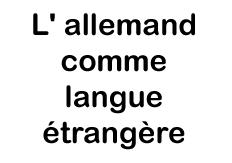 L' allemand comme langue étrangère