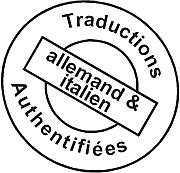 Traductions Authentifiées allemand et italien